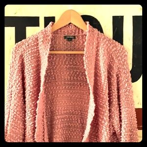 Rose colored oversized cardigan